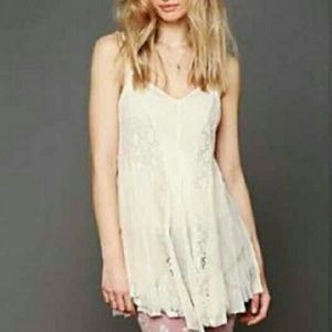 Free People Fairy lace/ Tulle mini dress XS